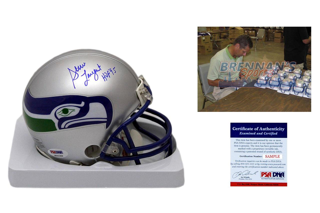 2fd5c7d4 Steve Largent Signed Seattle Seahawks Mini Helmet - PSA DNA Authentic  Autograph