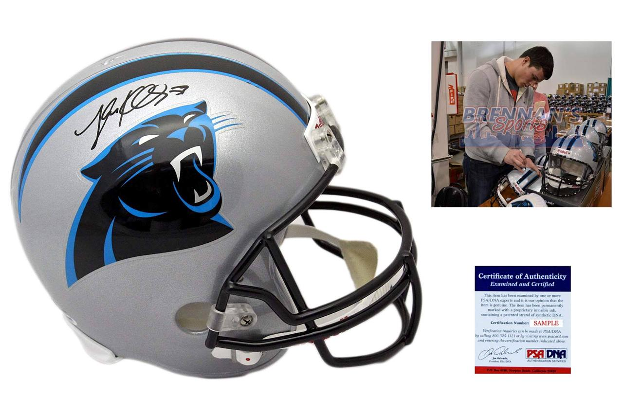 sale retailer ea9ff 67715 Luke Kuechly Signed Carolina Panthers Full Size Helmet - Beckett Authentic  Autograph