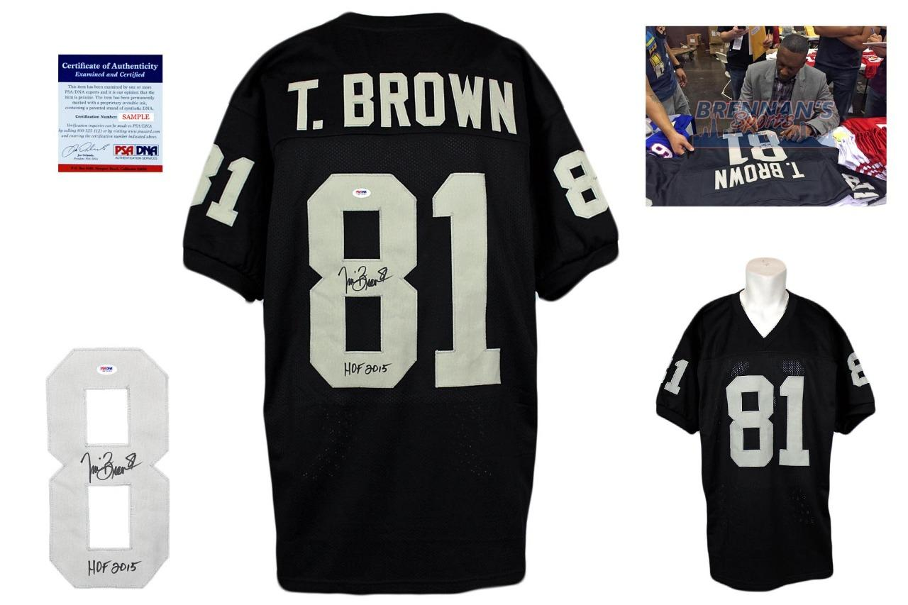 quality design 62e1a 65559 Tim Brown Signed Jersey - PSA DNA - Oakland Raiders Autographed - HOF 2015