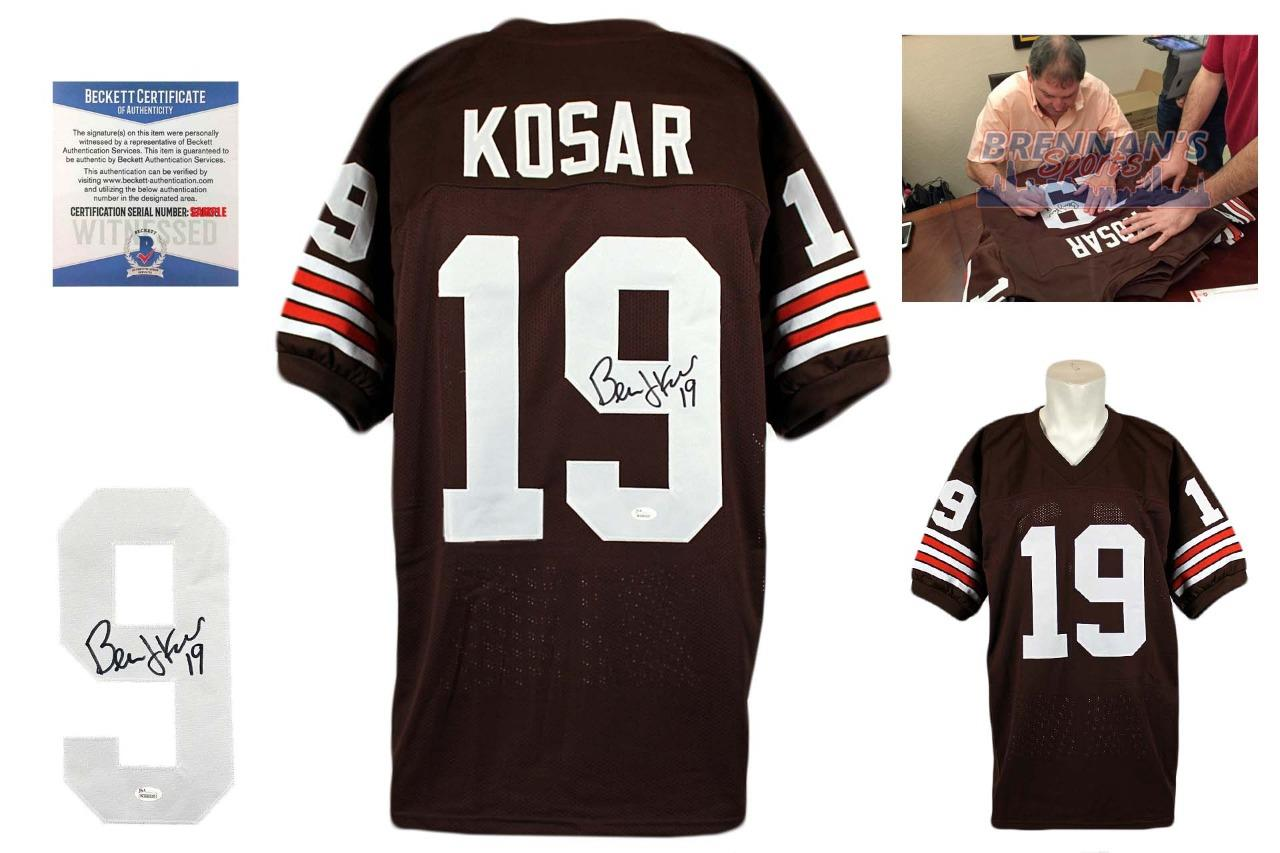 4f1485177 Bernie Kosar Autographed Signed Jersey - Beckett Witnessed ...