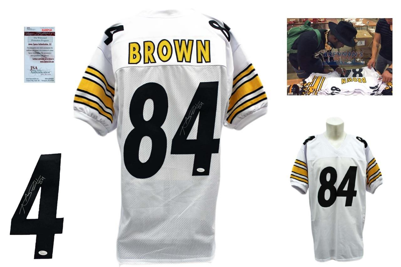 83afaf2e352 Antonio Brown Signed Jersey - JSA Witness - Pittsburgh Steelers Autographed  - White