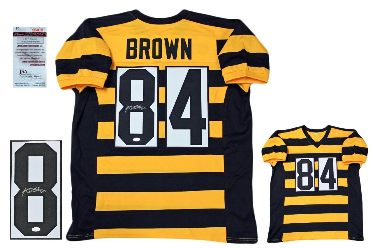 Antonio Brown Autographed Signed Jersey - Bumble Bee - JSA Authentic ... 0c34ea4a5