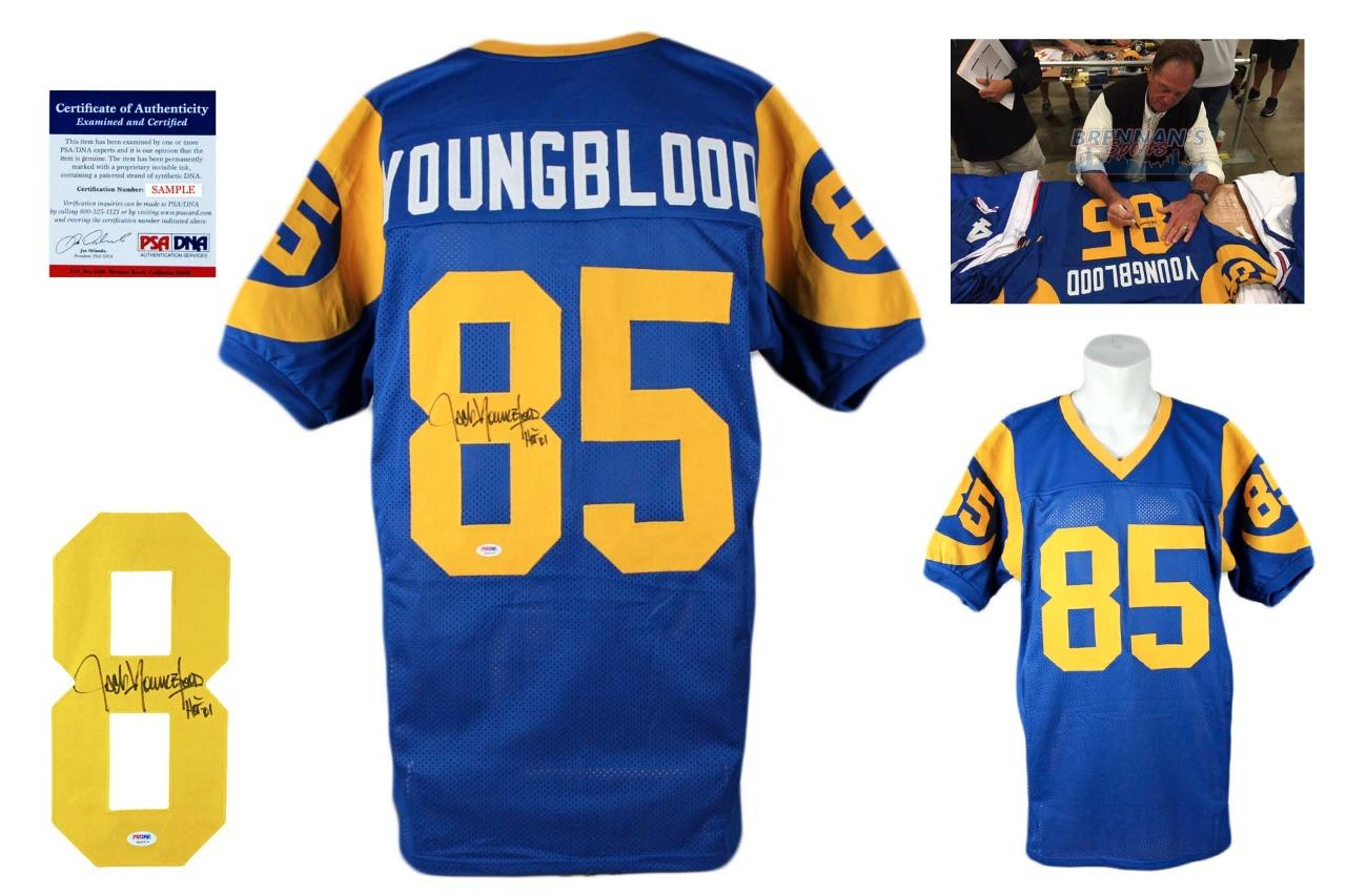 release date 401ac 53acf Jack Youngblood Autographed Signed Jersey - Royal - PSA DNA Authentic