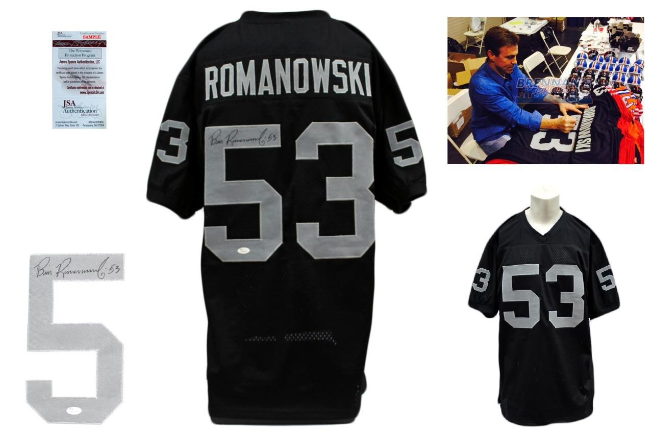Bill Romanowski Autographed Signed Jersey - Black - PSA DNA Authentic 760ad6ccf