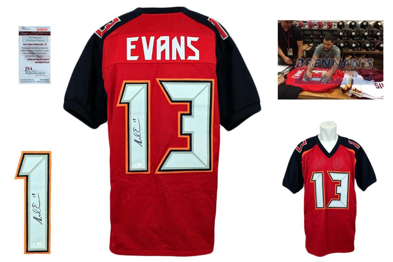 d20ca5a3d Mike Evans Autographed Signed Jersey - Red - JSA Authentic ...
