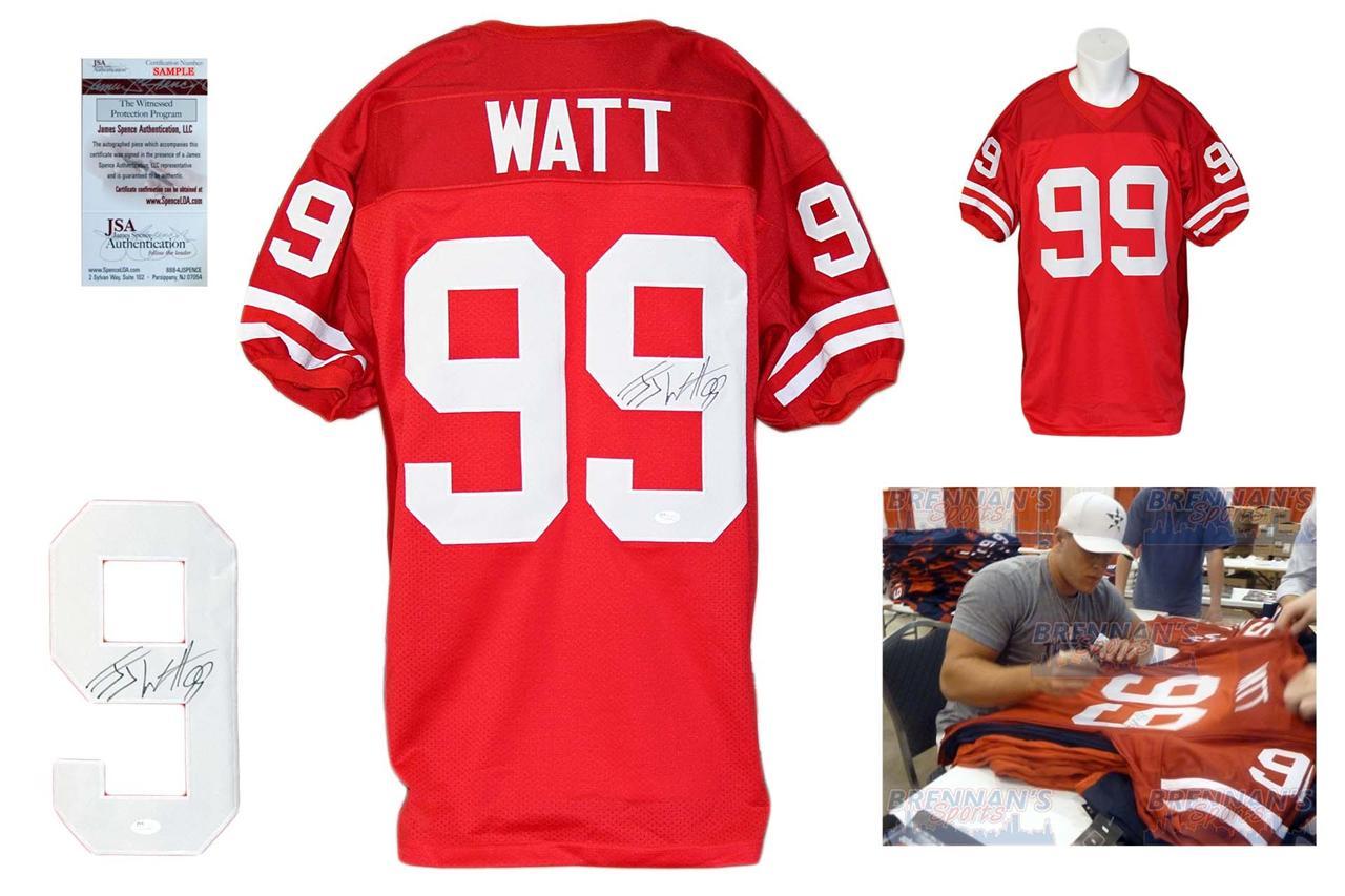 sale retailer fa4de 72b44 JJ Watt Signed Jersey - JSA Witness - Wisconsin Badgers Autrographed