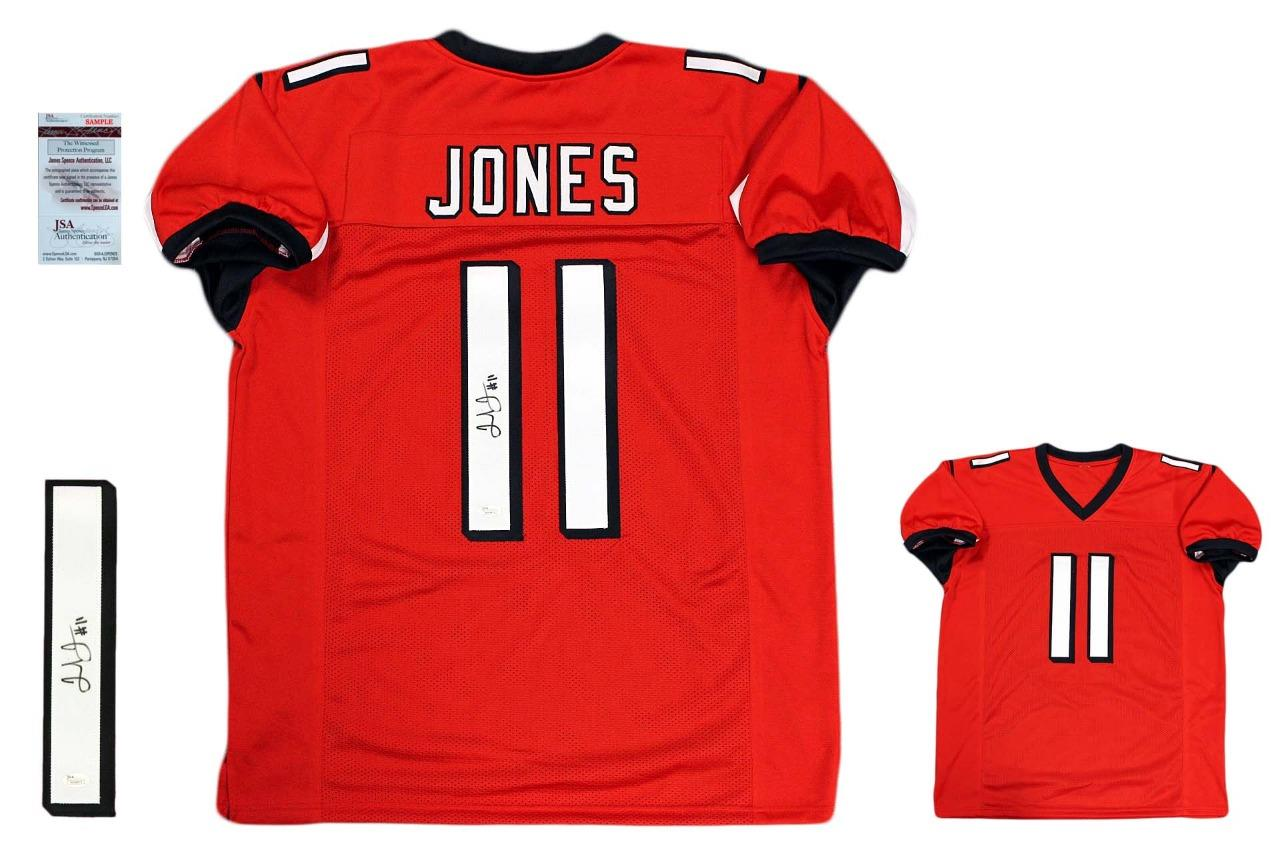 91be1fded59b6 Julio Jones Autographed Signed Jersey - JSA Witnessed Authentic - Red
