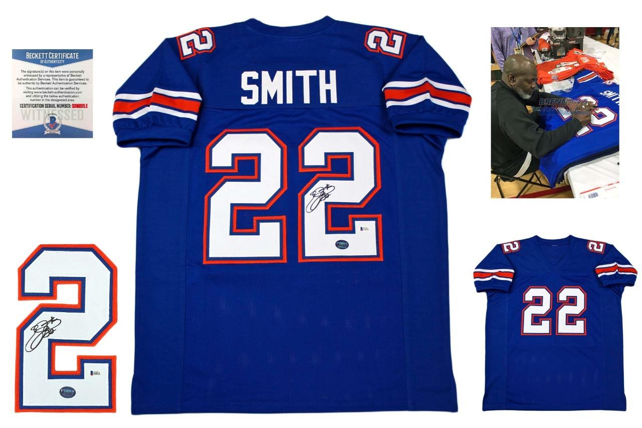 info for be453 d96b6 Emmitt Smith Signed Jersey - Beckett - Florida Gators Autographed - Royal