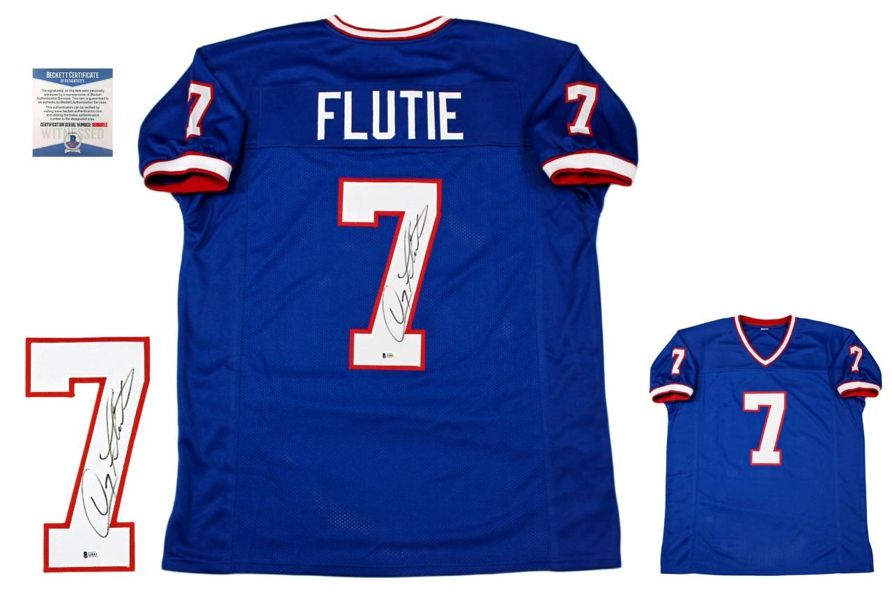 buy popular f4f91 4df3c Doug Flutie Autographed Signed Jersey - Royal - Beckett Authentic