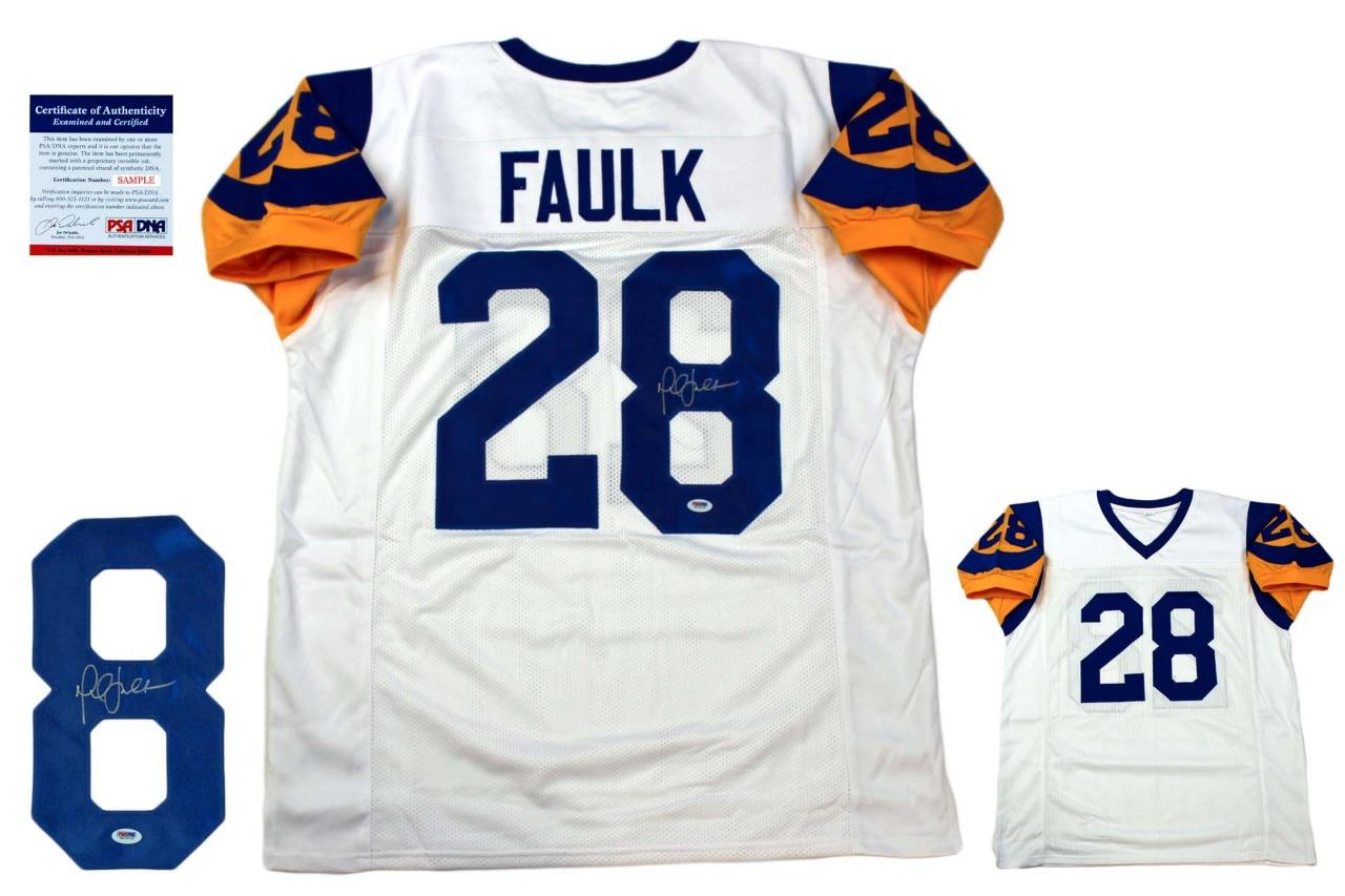 sports shoes 49e28 f71cc Marshall Faulk Autographed Signed Jersey - White - PSA Authentic