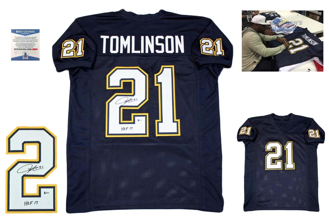 size 40 0a9c1 3058b Ladainian Tomlinson Autographed Signed Custom Jersey - Beckett Authentic -  NVY