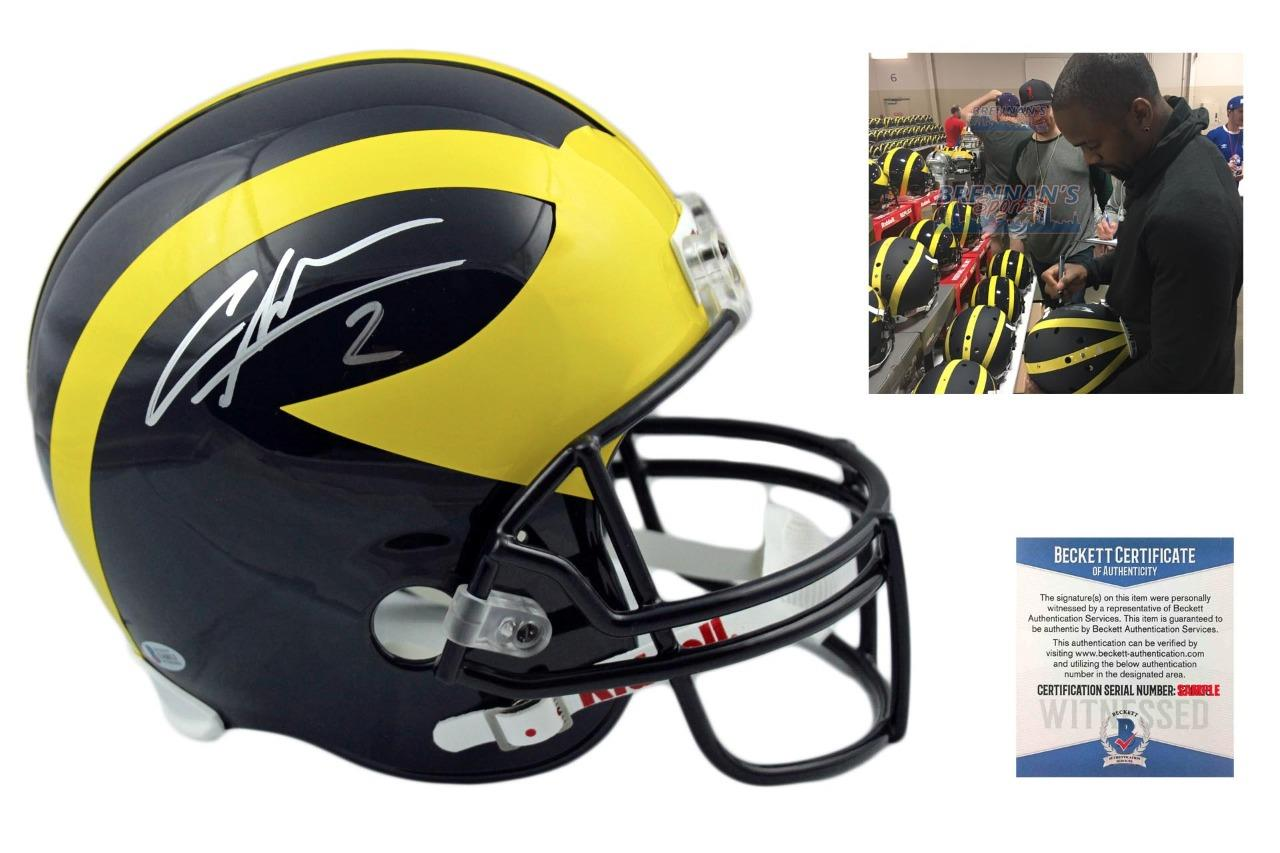 huge selection of e0d56 377c4 Charles Woodson Autographed Signed Michigan Wolverines Full Size Rep Helmet  - Beckett