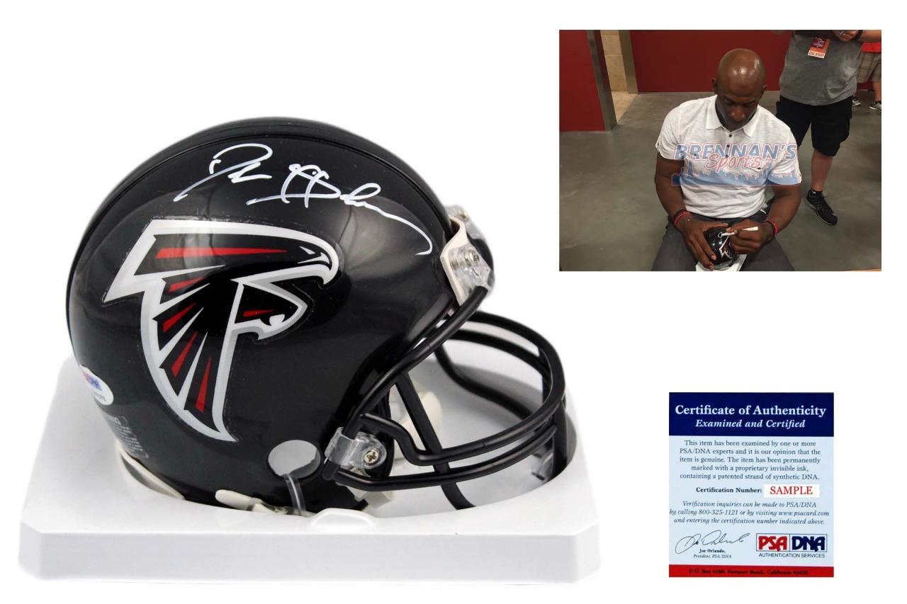 best service 24530 92b39 Deion Sanders Autographed Signed Atlanta Falcons Mini Helmet - PSA