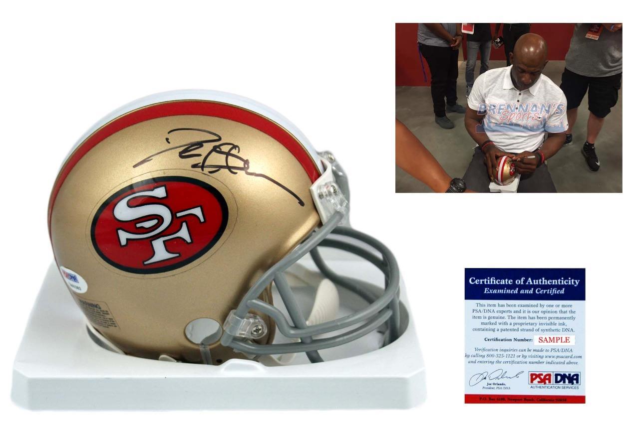 purchase cheap 3d94c d9b1f Deion Sanders Autographed Signed San Francisco 49ers Mini Helmet - PSA  Authentic