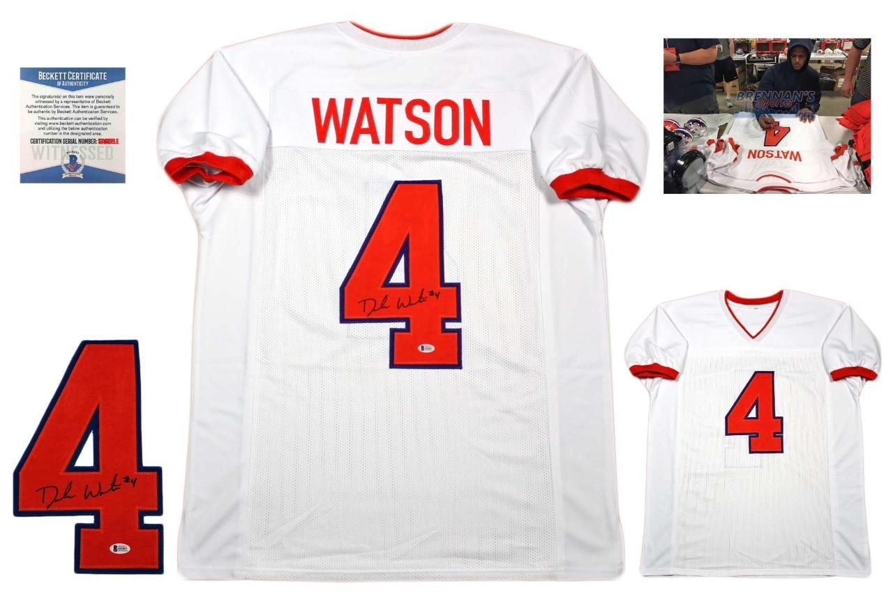 Deshaun Watson Autographed Signed Jersey - Beckett Authentic - White ... 7739e88fc