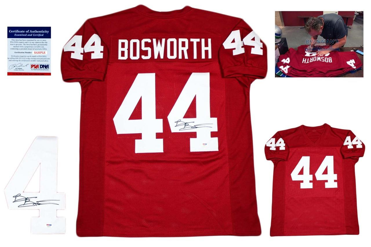 f99d4b1e40d Brian Bosworth Autographed Signed Jersey - Beckett - College ...