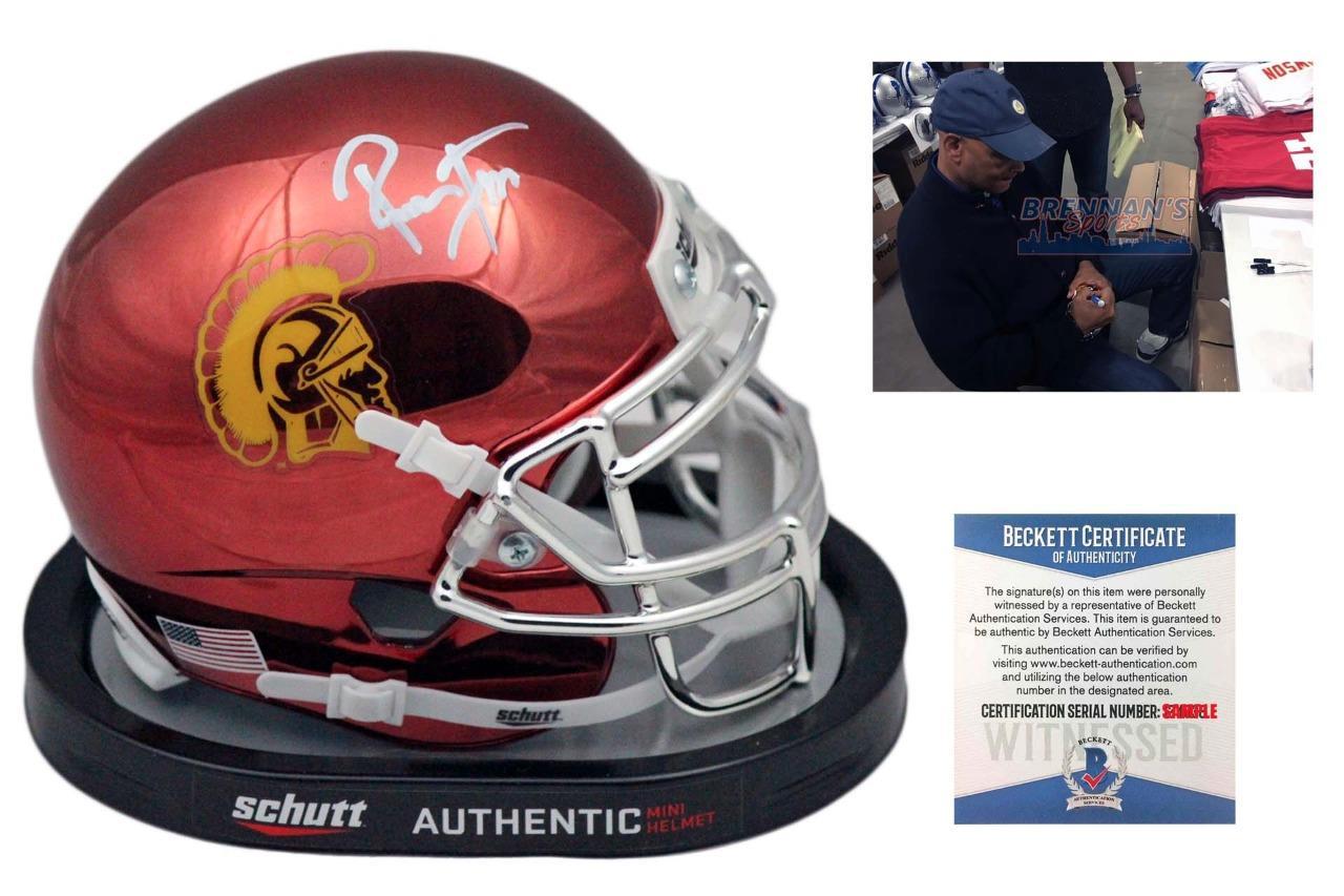 more photos 0d25a 767ba Ronnie Lott Autographed Signed USC Trojans Chrome Mini Helmet - Beckett  Authentic