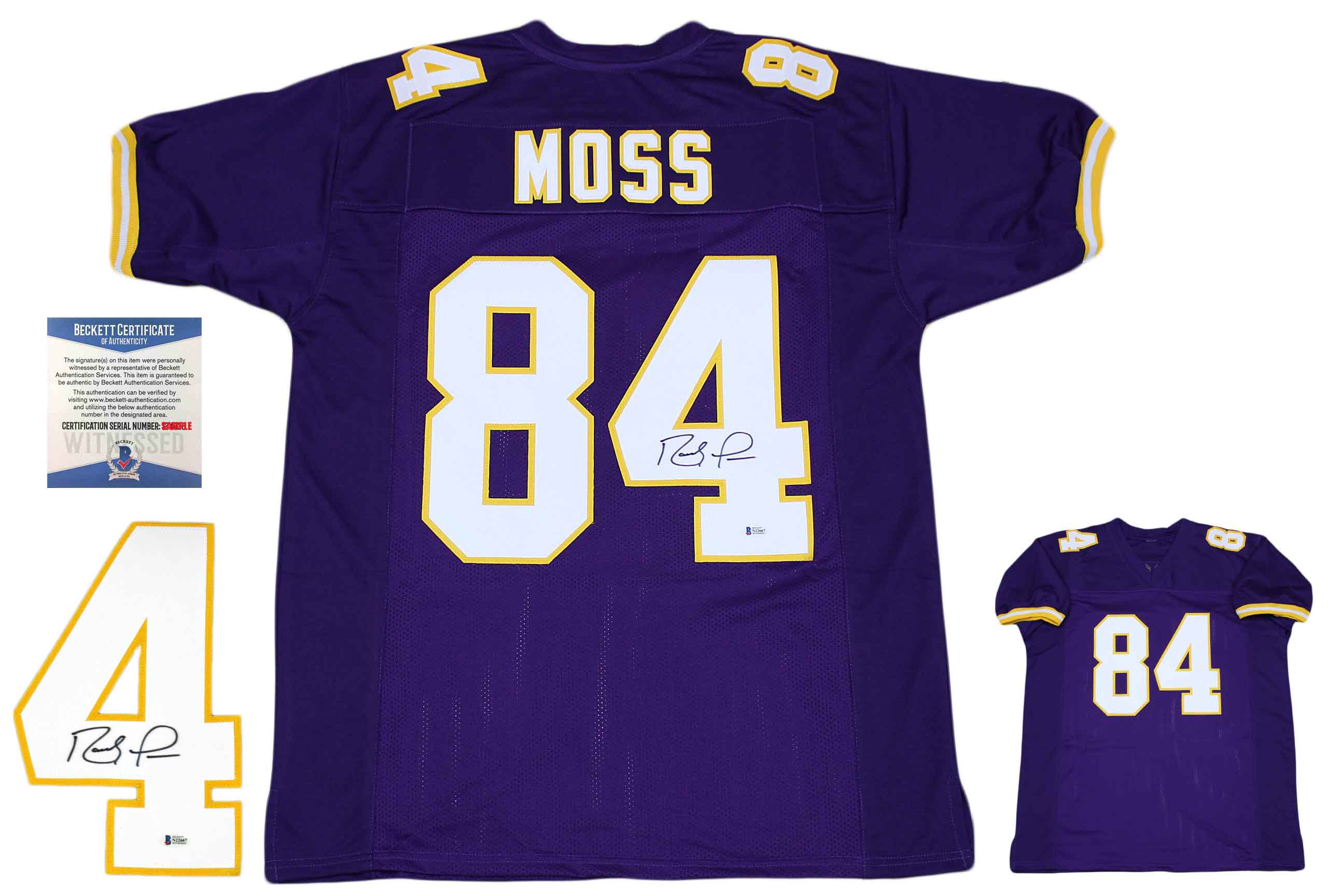75865a23 Randy Moss Autographed Signed Jersey - Beckett Authentic