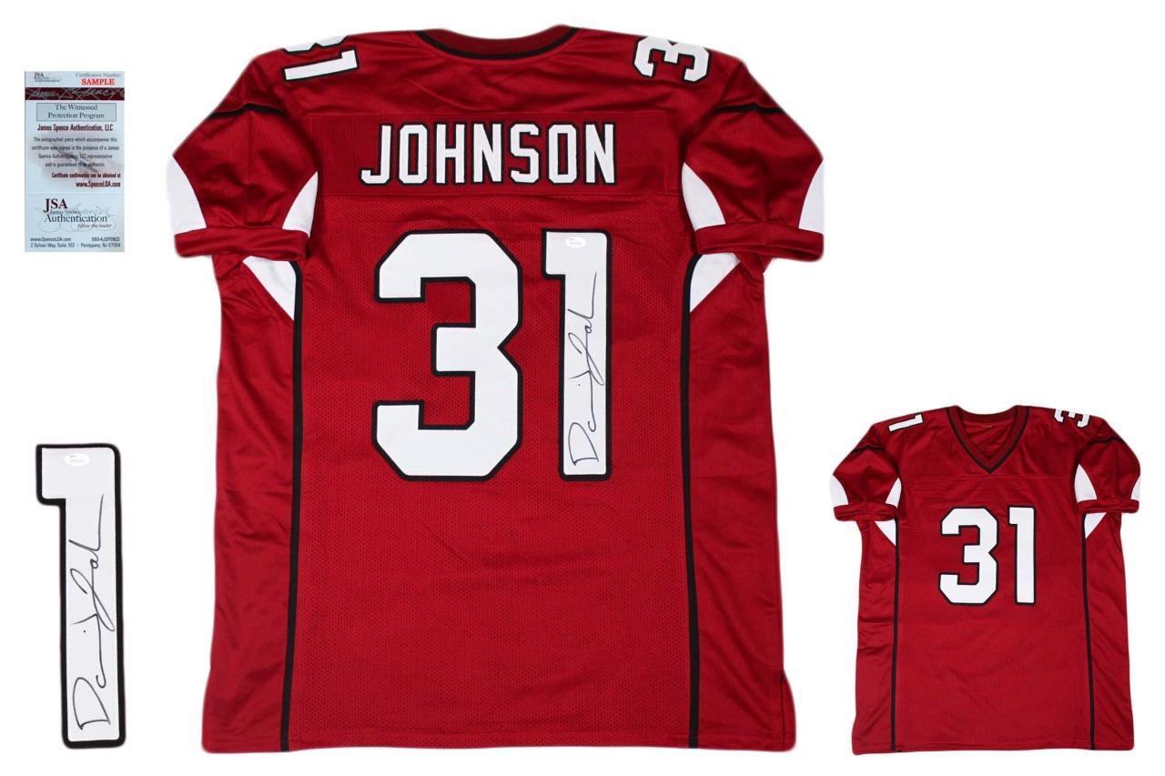 best service 7dd38 820e9 David Johnson Autographed Signed Jersey - JSA Witnessed - Red