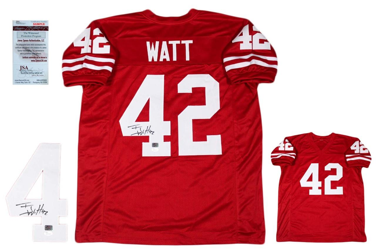 9bf0a9c30 TJ Watt Autographed Signed Jersey - JSA Witnessed - Red ...