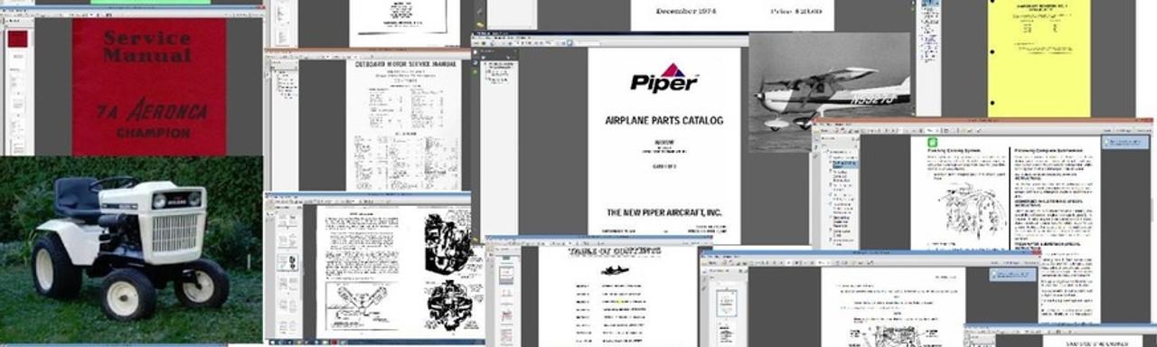 Bolens Cessna Piper beechcraft Service manuals