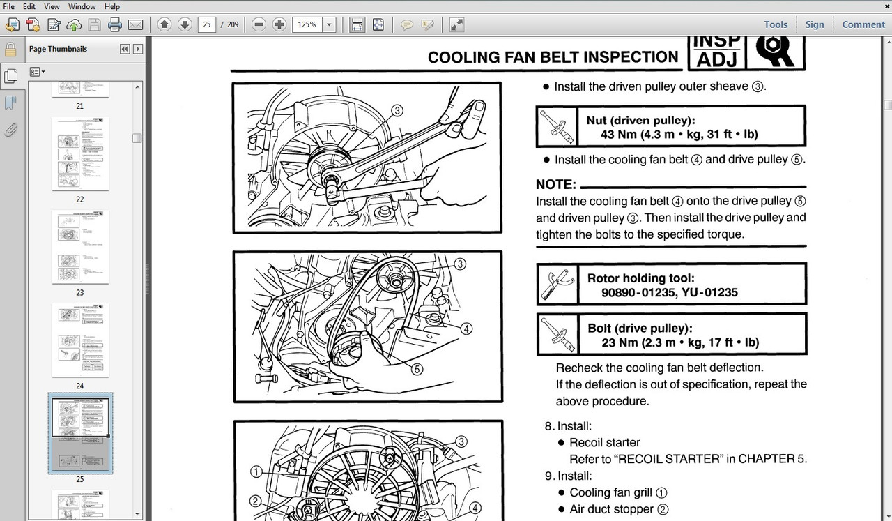Snowmobile service manual download