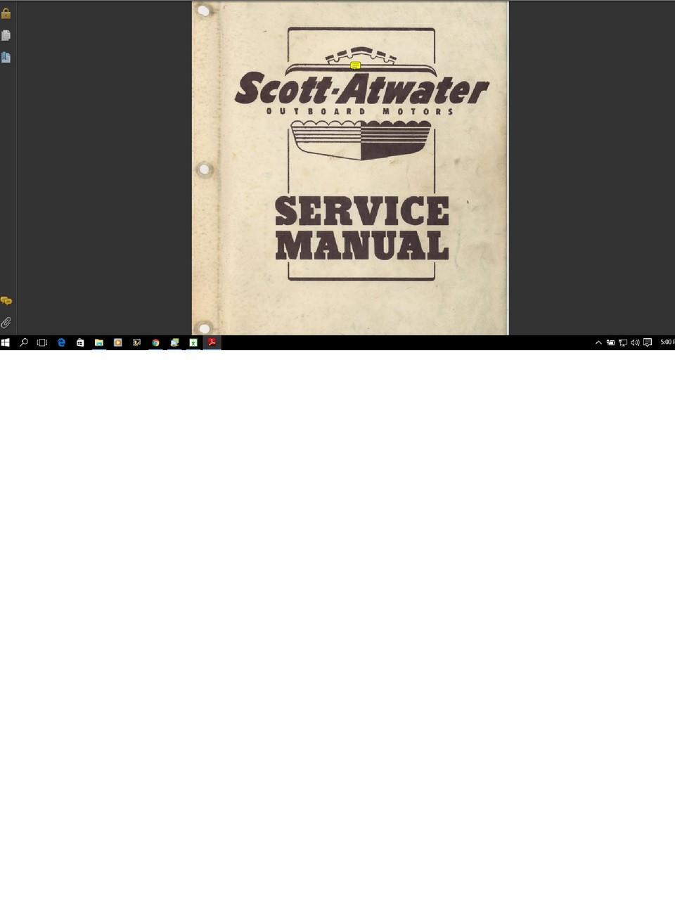 Scott Atwater Outboard Motor Service Repair Shop Manual