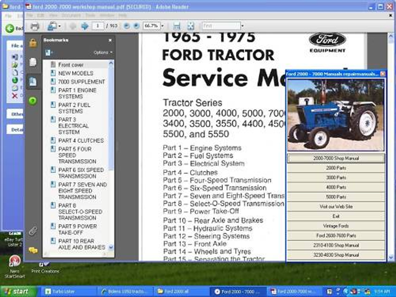 35 Ford 2600 Parts Diagram