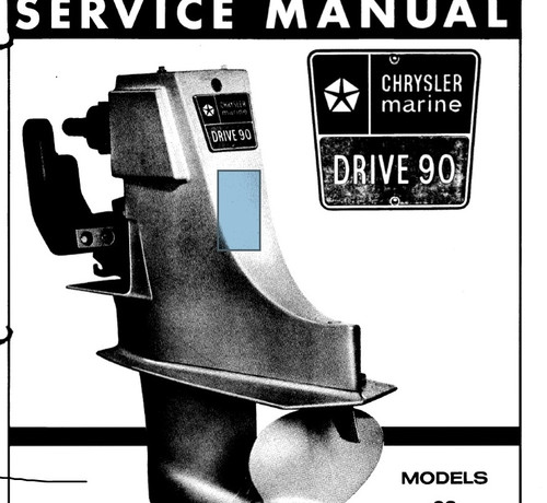 Factory Chrysler dana 90 stern drive unit service manual download model 60 & 80   46 oem pages.