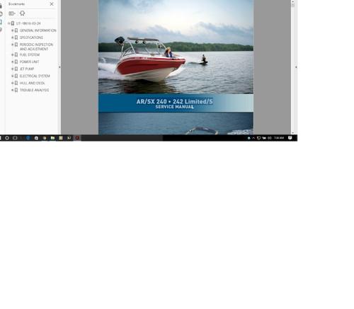 Yamaha Jet Boat service manual AR210 2011 2010 2009