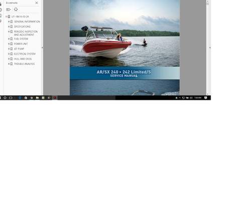 Yamaha Jet Boat service manual exciter 1998 1997 EXT1100W Service Manual LIT-18616-01-53