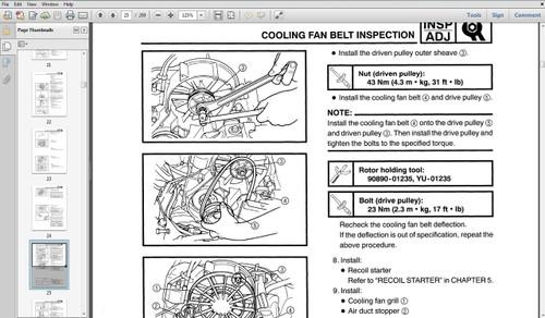 1998 yamaha yfz350 atv parts manual catalog download