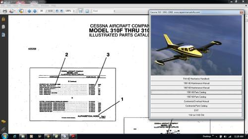 Cessna continuing airworthiness program manual 300 series CD