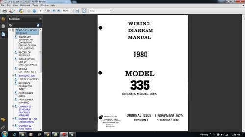 Cessna 335 Wiring diagram electrical manual D2523-3-13