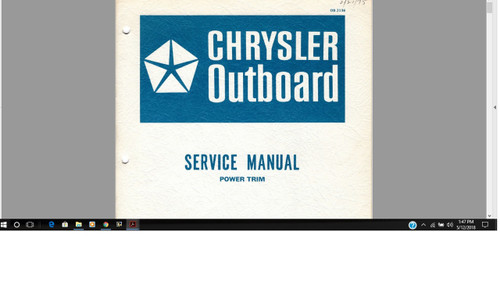 Chrysler outboard power trim service manual download, covers 71H to 74H series system. 1975 manual