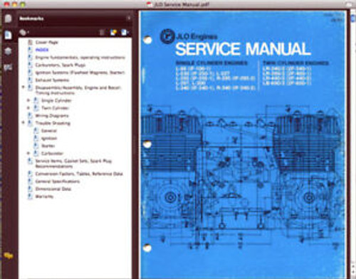 Jlo engine service n parts manuals download. LR LB 2F series