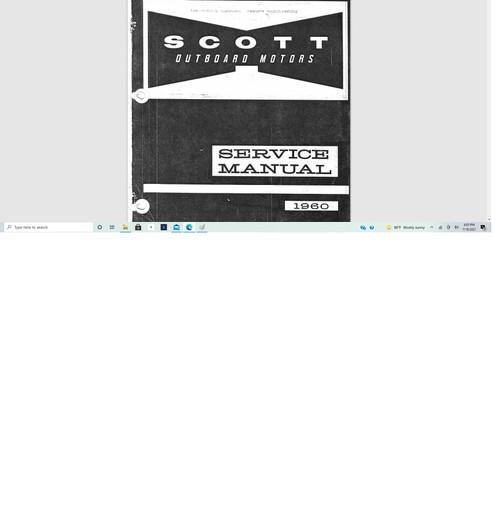 Scott McCulloch outboard motor service manual 1960 download