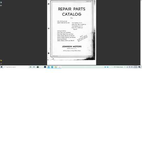 Johnson outboard 1921 -1927 parts manual download