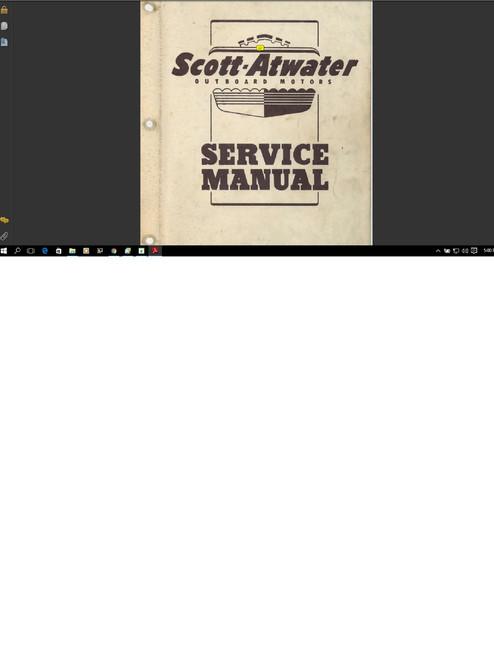 Scott Atwater Outboard motor Service repair shop manual 1946 - 1956