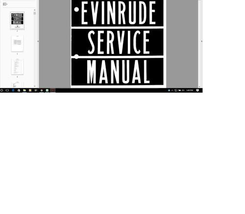 Evinrude outboard 1935 - 1961 Service manual