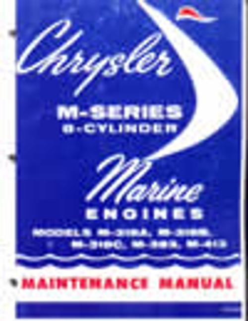 Chrysler Marine Repair manual M 383 M 400 M 440 engine and transmission service on CD