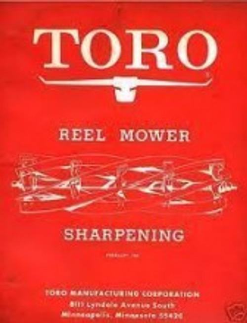 toro reel mower sharpening manual download