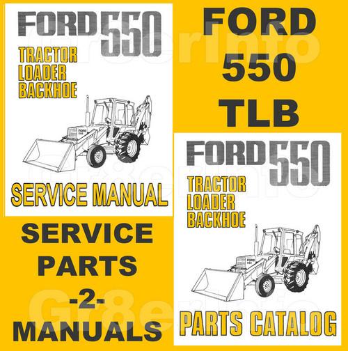 Ford tractor service repair manual 550 555