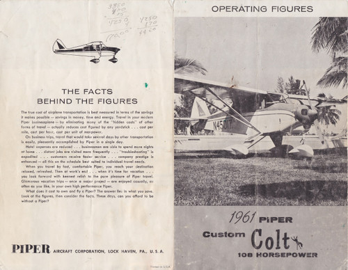 Piper Colt manual package PA22-108