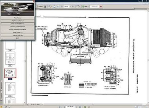 Cessna 182 Skylane service maintenance manual set + engine 1997 - 2008