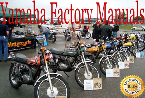 This listing is for any single yamaha Motorcycle  service manual on a CD from 1985-2012.  YOU must specify the exact model  you wish the manual for. This is coverage for 1 model built between 1985 & 2011, not for all models and all years.  The digital  manual will be on a CD fully indexed and bookmarked for easy navigation. This is same illustrated  information the dealers use. .  Manuals on CD make sense, they are more durable than paper and you can look infomation up very quickly. If you need a hard copy, push the print button!!  Fully bookmarked and hyperlinked with  a master index for easy use.  Print any or all pages   Free shipping