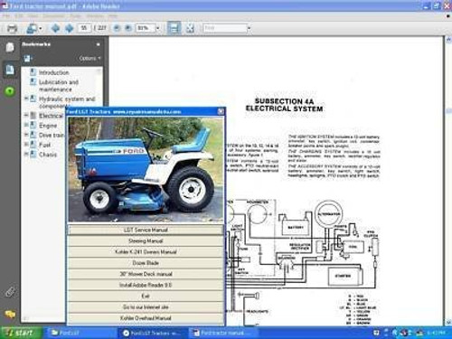 Ford lawn and garden tractor service repair manual LGT series