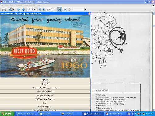 West Bend Elgin outboard motor service repair manual