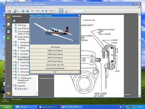 Mooney aircraft Eagle M20S service maintenance manual set