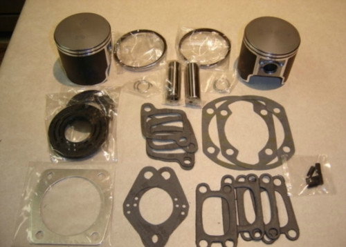 Rotax 447 oversize  piston and gasket kit for ultralight aircraft engine top end kit